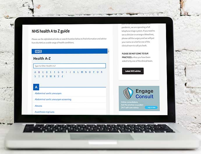 Syndicated NHS content deployed on your GP Surgery Practice website