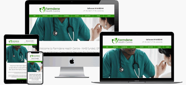 Our GP Surgery website theme 1 in green