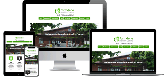 GP Practice website design theme 6 in a green colour theme