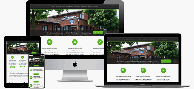 website design for primary care networks