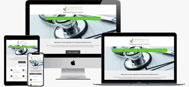 Design theme 3 for doctors in green